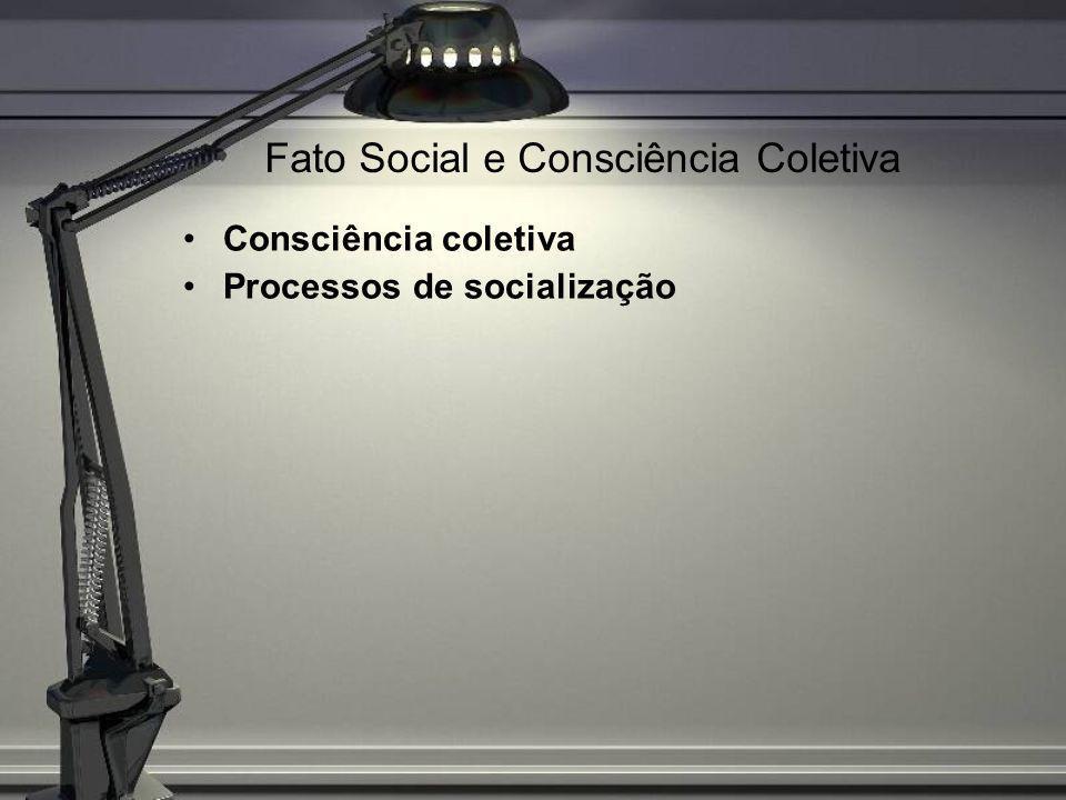 Fato Social e Consciência Coletiva