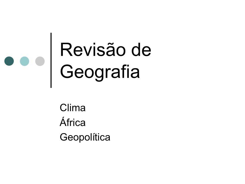 Clima África Geopolítica