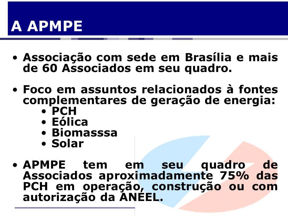 A APMPEAssociação com sede em Brasília e mais de 60 Associados em seu quadro.