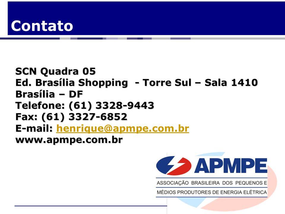Contato SCN Quadra 05 Ed. Brasília Shopping - Torre Sul – Sala 1410