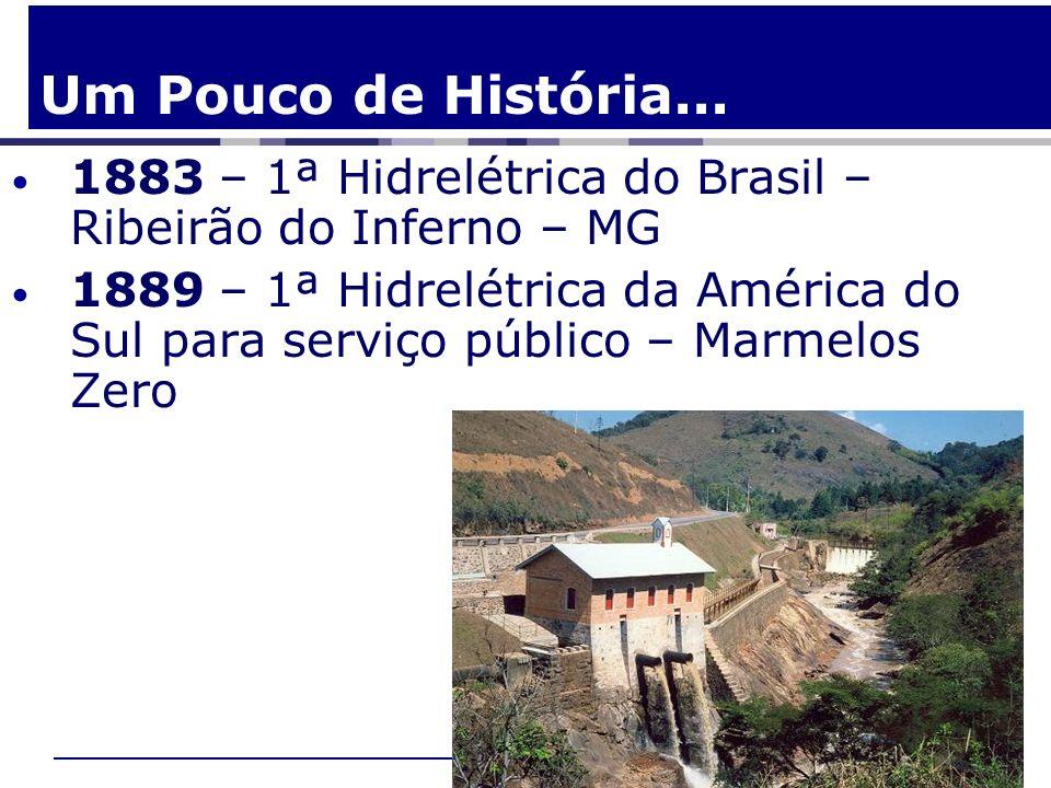 Um Pouco de História...1883 – 1ª Hidrelétrica do Brasil – Ribeirão do Inferno – MG.