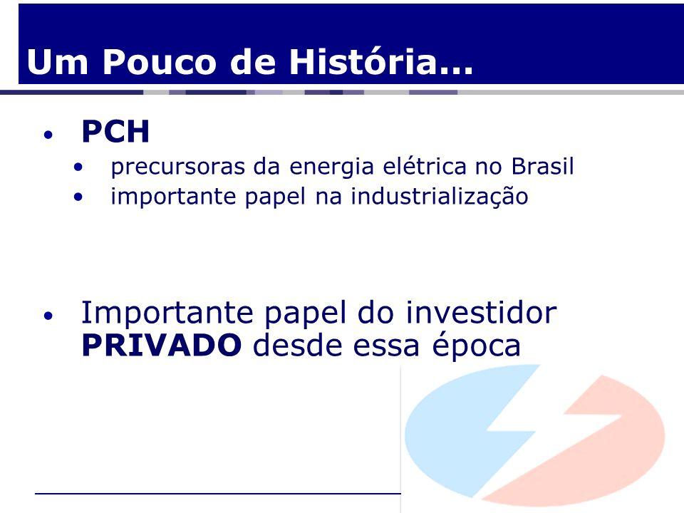 Um Pouco de História... PCH