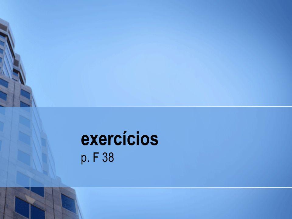exercícios p. F 38