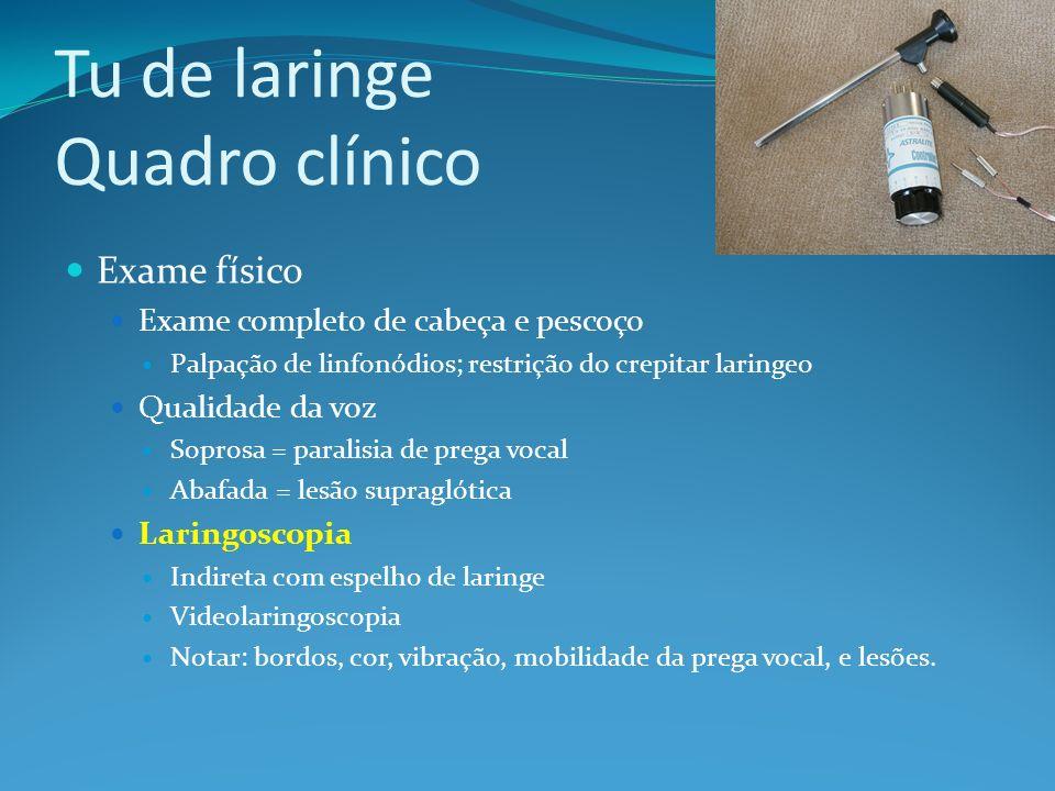 Tu de laringe Quadro clínico