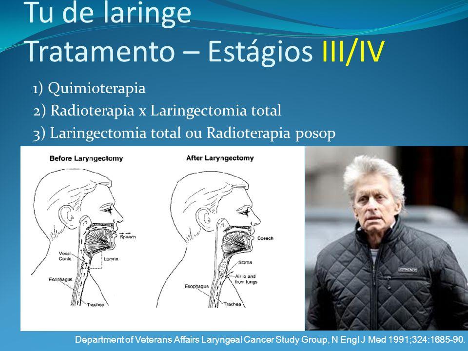 Tu de laringe Tratamento – Estágios III/IV