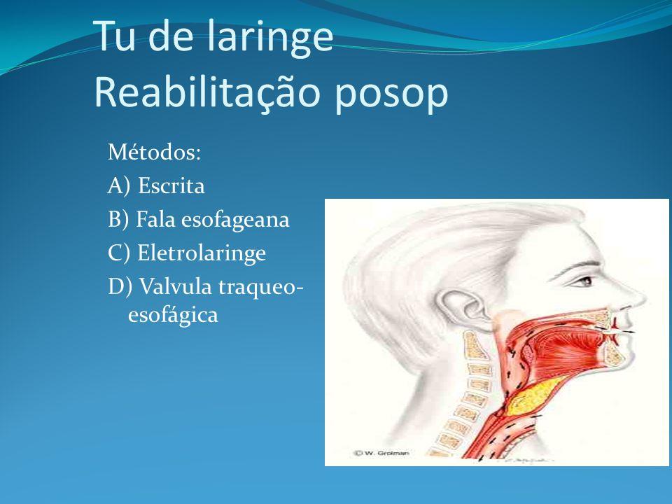 Tu de laringe Reabilitação posop