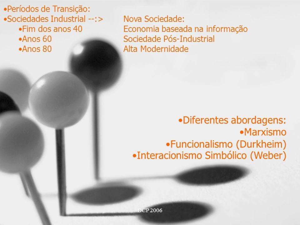 Diferentes abordagens: Marxismo Funcionalismo (Durkheim)