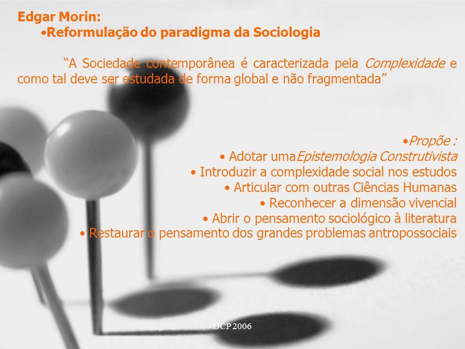 Reformulação do paradigma da Sociologia