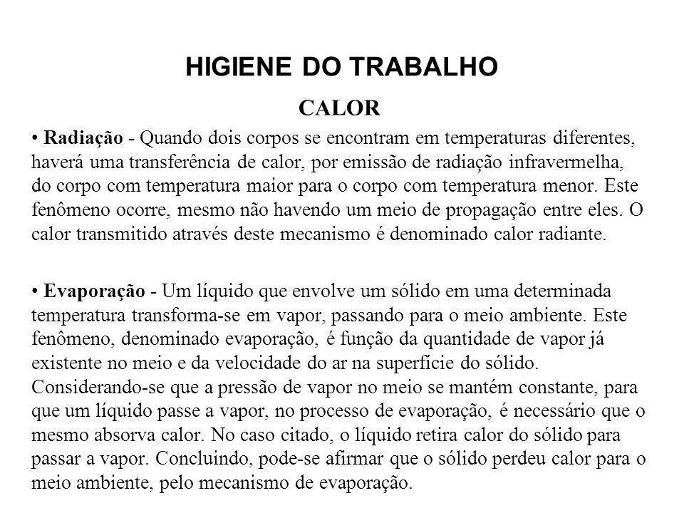 HIGIENE DO TRABALHO CALOR.