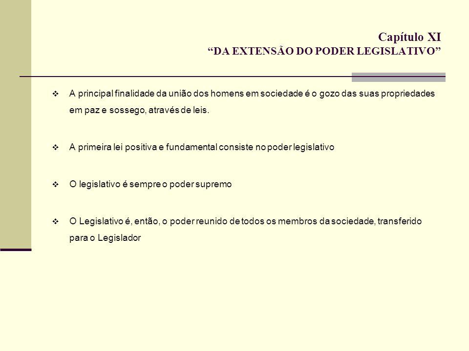 Capítulo XI DA EXTENSÃO DO PODER LEGISLATIVO