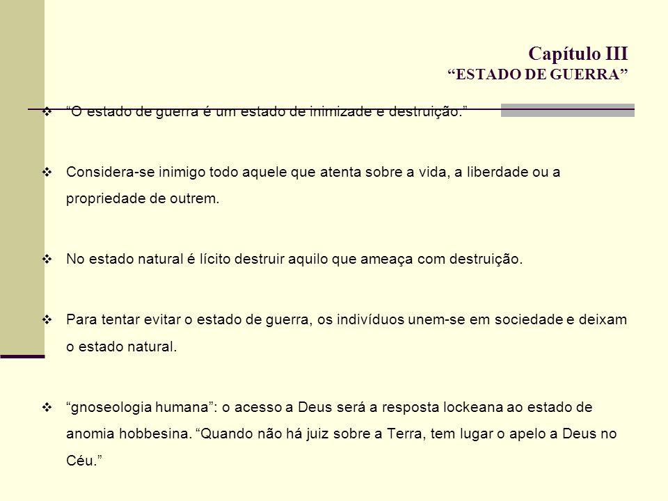 Capítulo III ESTADO DE GUERRA