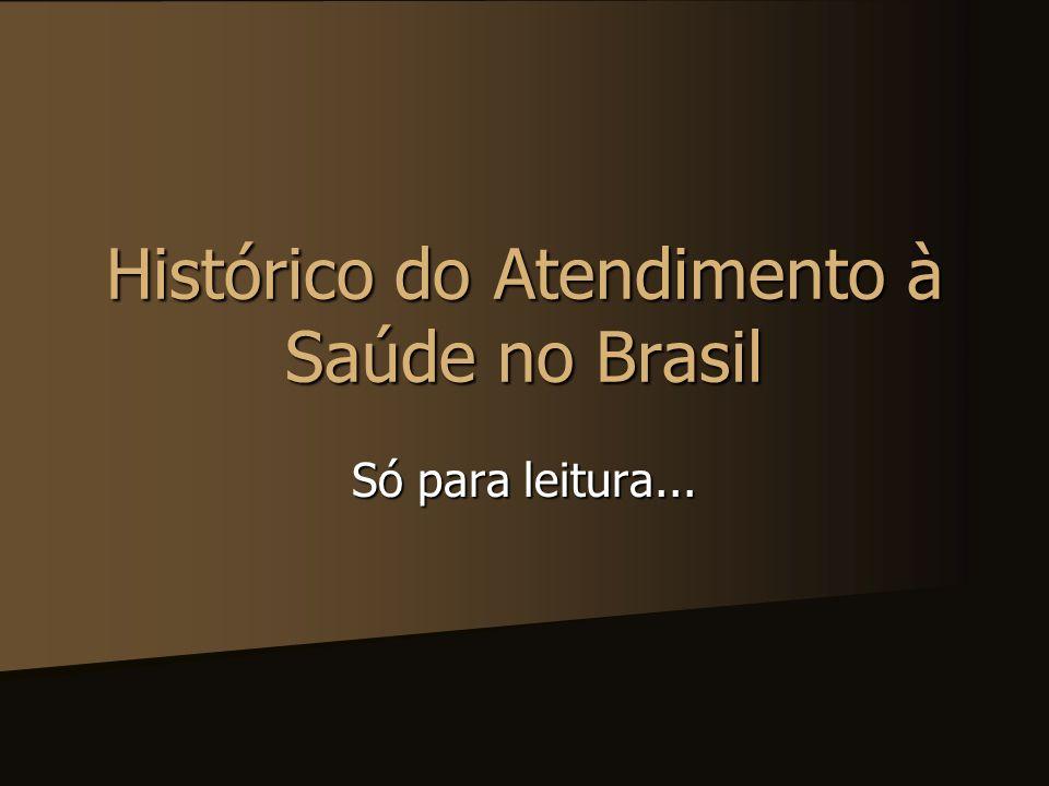 Histórico do Atendimento à Saúde no Brasil