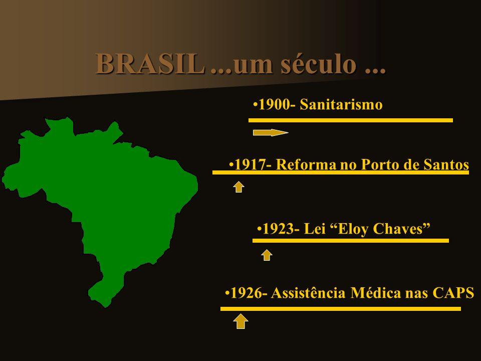 BRASIL ...um século ... 1900- Sanitarismo