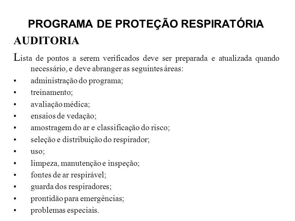 PROGRAMA DE PROTEÇÃO RESPIRATÓRIA
