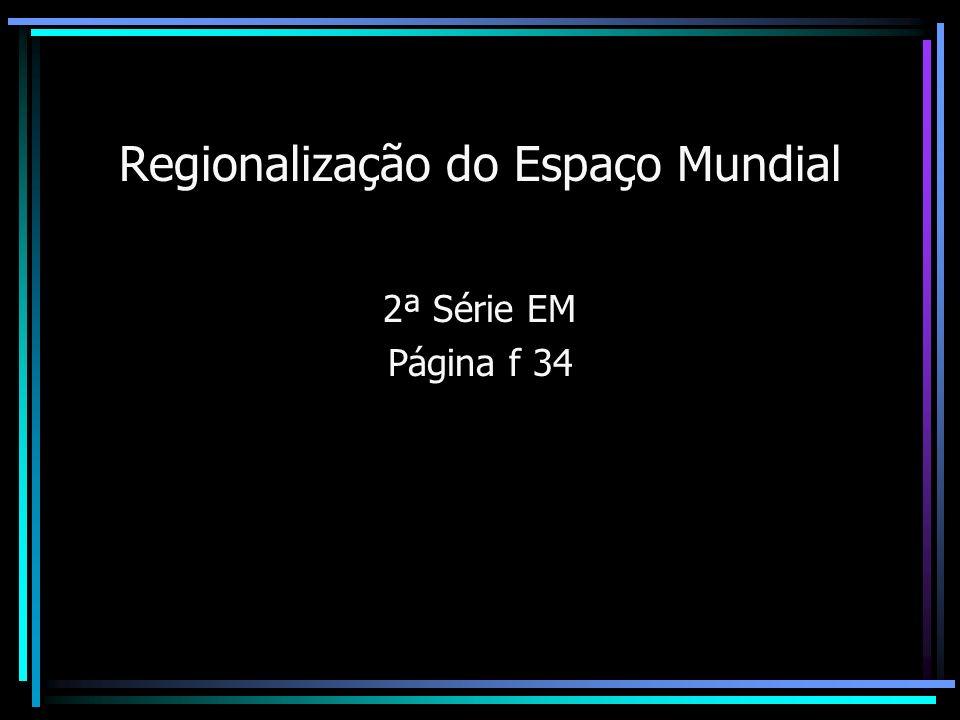 Regionalização do Espaço Mundial