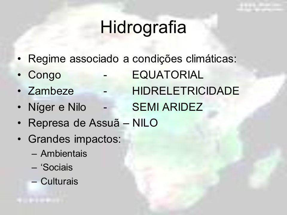Hidrografia Regime associado a condições climáticas: