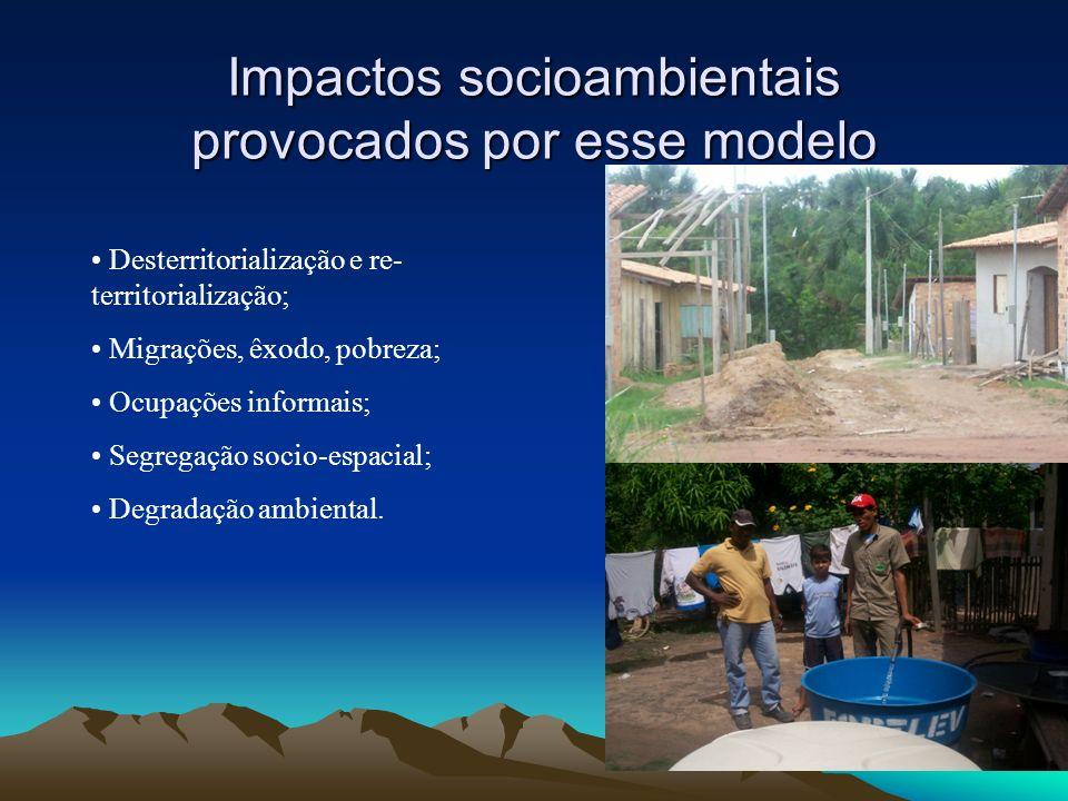 Impactos socioambientais provocados por esse modelo