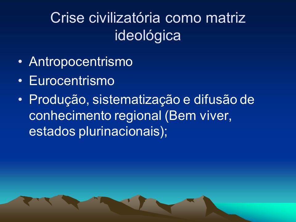 Crise civilizatória como matriz ideológica