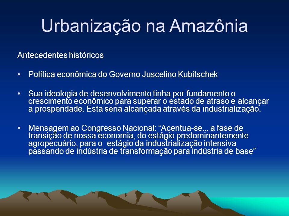 Urbanização na Amazônia