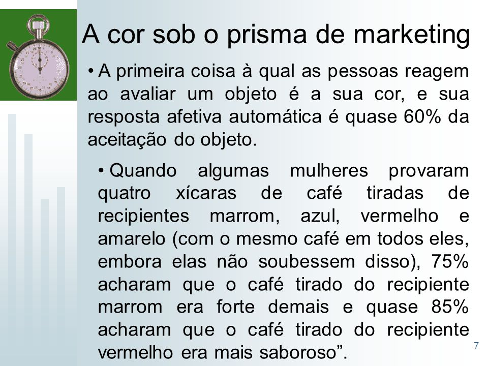A cor sob o prisma de marketing