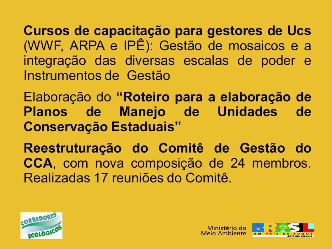 Cursos de capacitação para gestores de Ucs (WWF, ARPA e IPÊ): Gestão de mosaicos e a integração das diversas escalas de poder e Instrumentos de Gestão