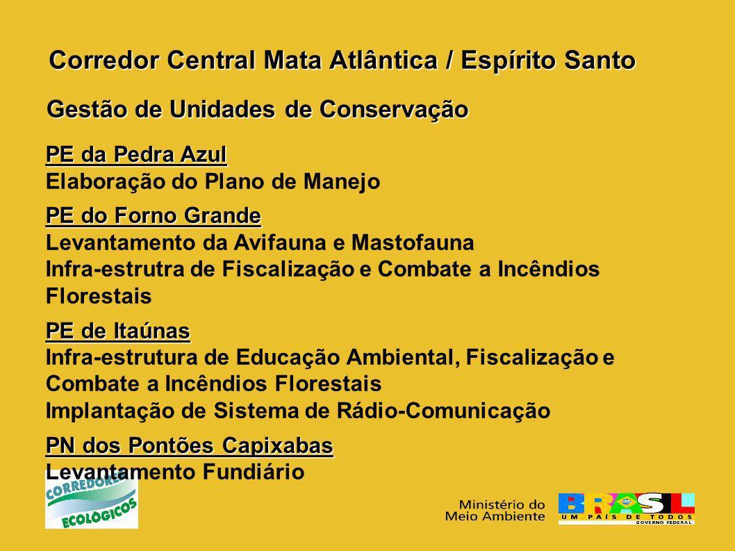 Corredor Central Mata Atlântica / Espírito Santo