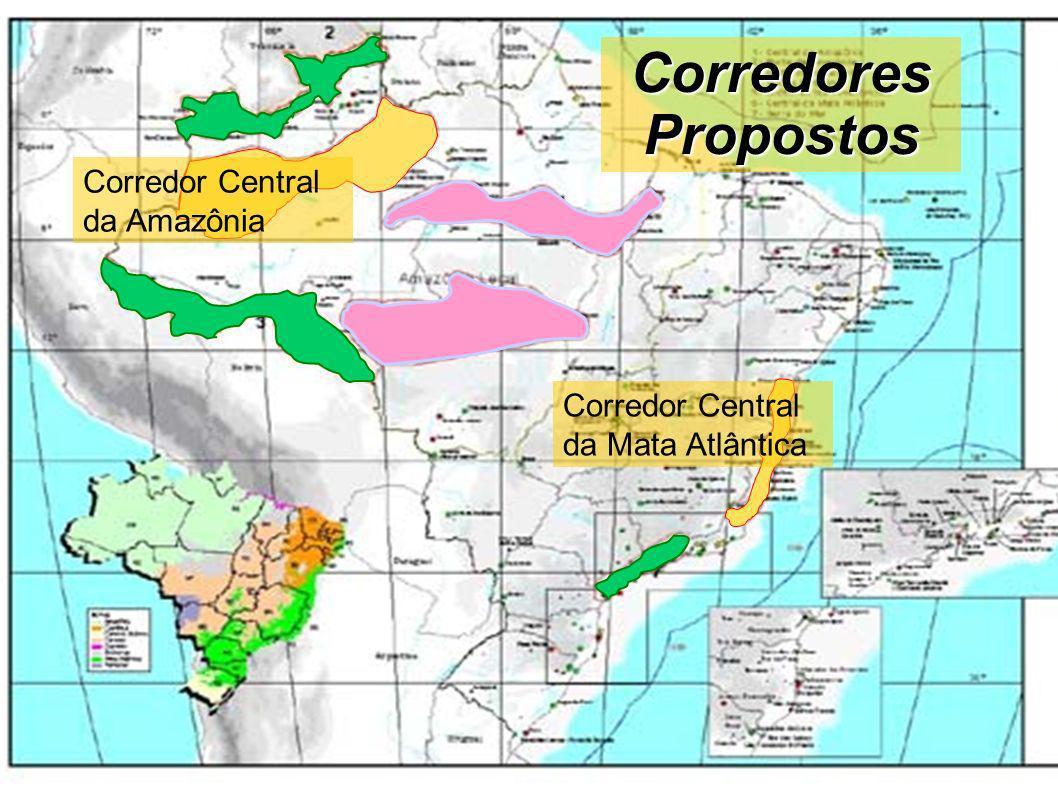 Corredores Propostos Corredor Central da Amazônia