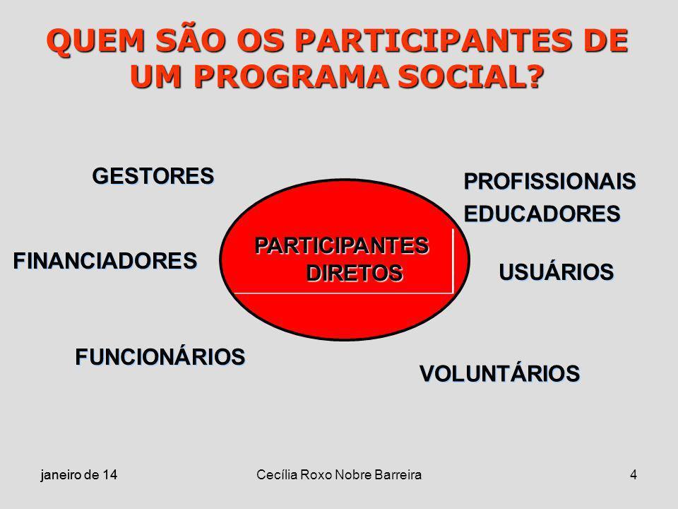 QUEM SÃO OS PARTICIPANTES DE UM PROGRAMA SOCIAL