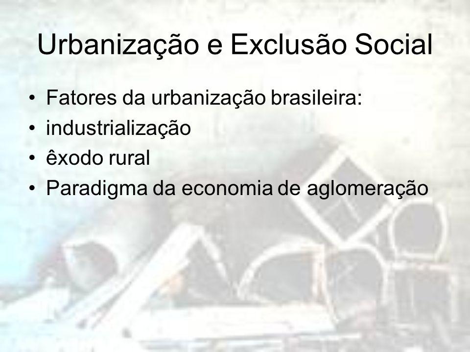 Urbanização e Exclusão Social