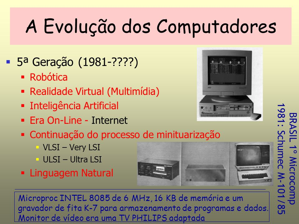 A Evolução dos Computadores