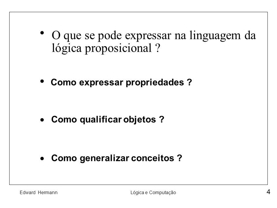 O que se pode expressar na linguagem da lógica proposicional