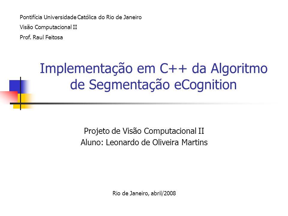 Implementação em C++ da Algoritmo de Segmentação eCognition