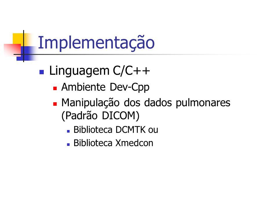 Implementação Linguagem C/C++ Ambiente Dev-Cpp