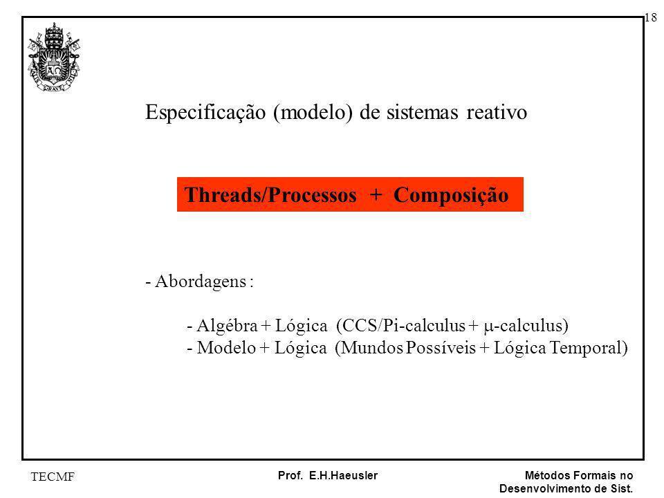 Especificação (modelo) de sistemas reativo