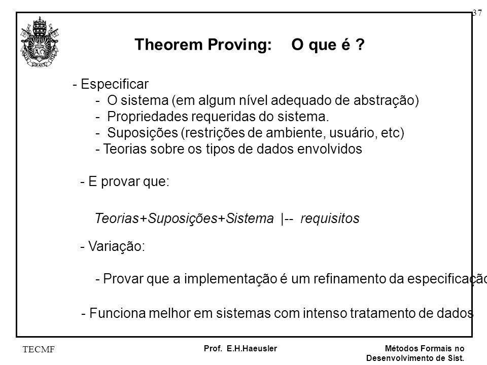 Theorem Proving: O que é