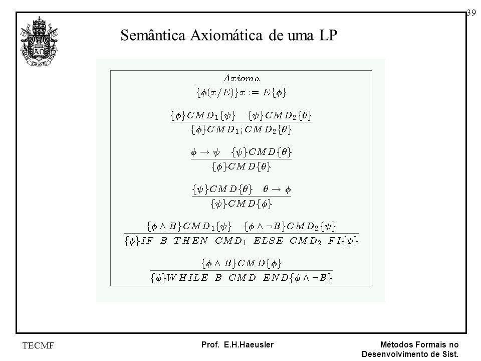 Semântica Axiomática de uma LP