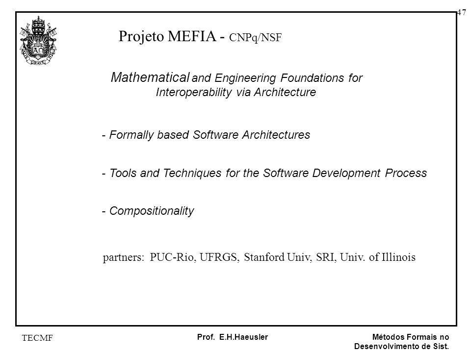Projeto MEFIA - CNPq/NSF