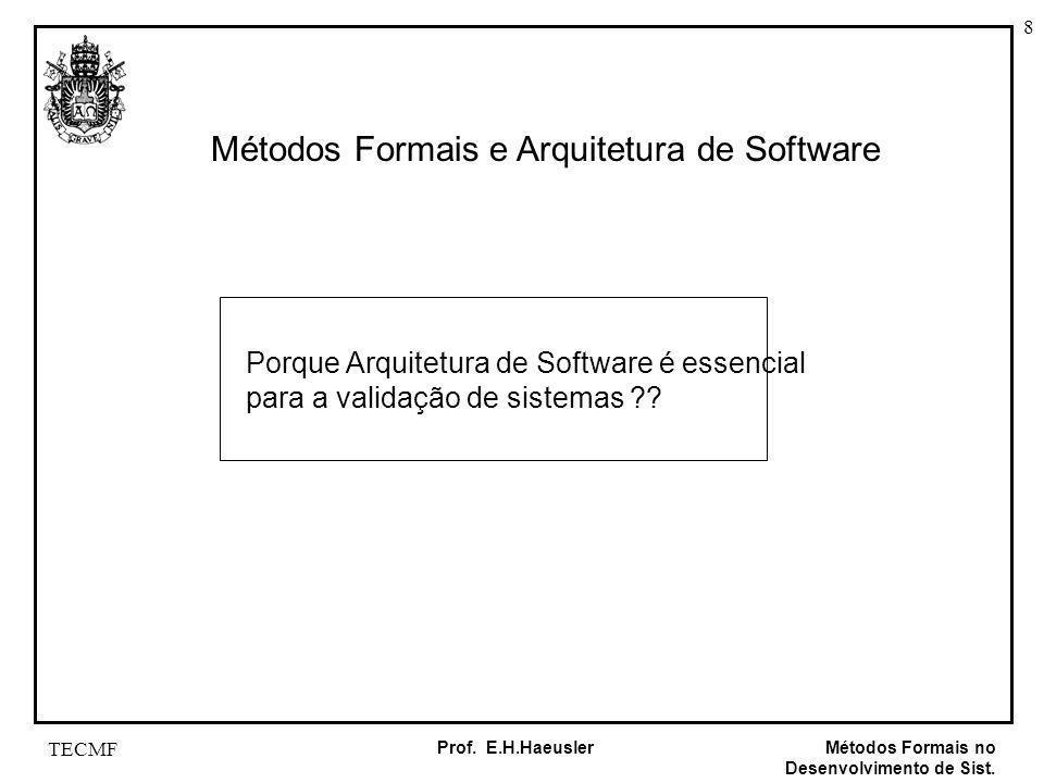 Métodos Formais e Arquitetura de Software