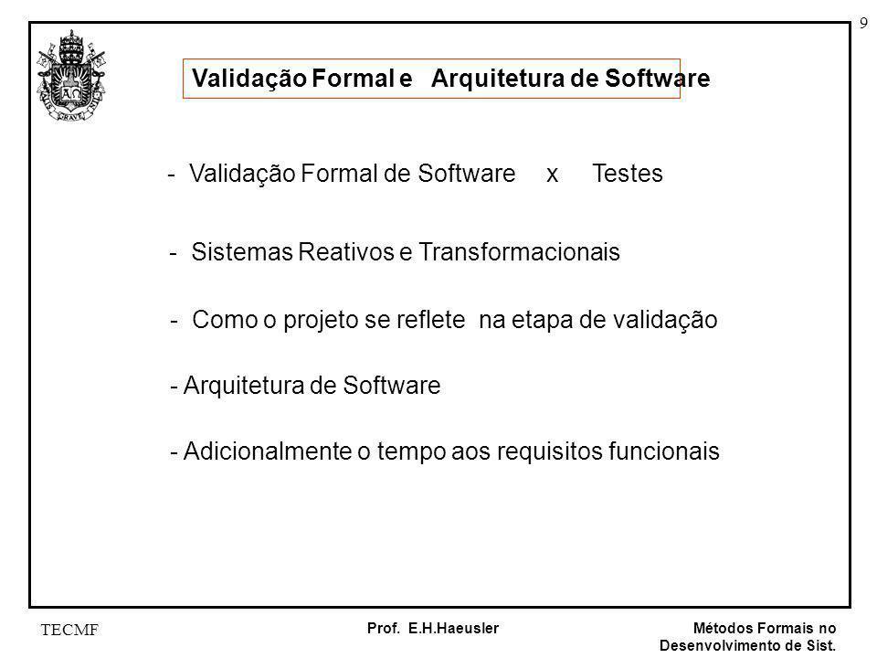 Validação Formal e Arquitetura de Software