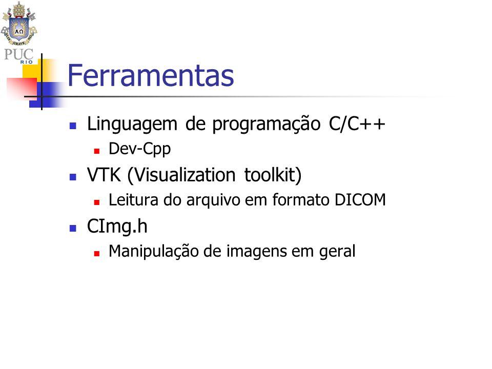 Ferramentas Linguagem de programação C/C++ VTK (Visualization toolkit)