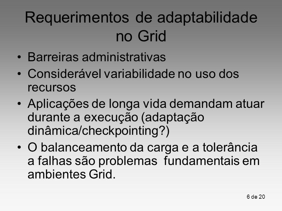 Requerimentos de adaptabilidade no Grid
