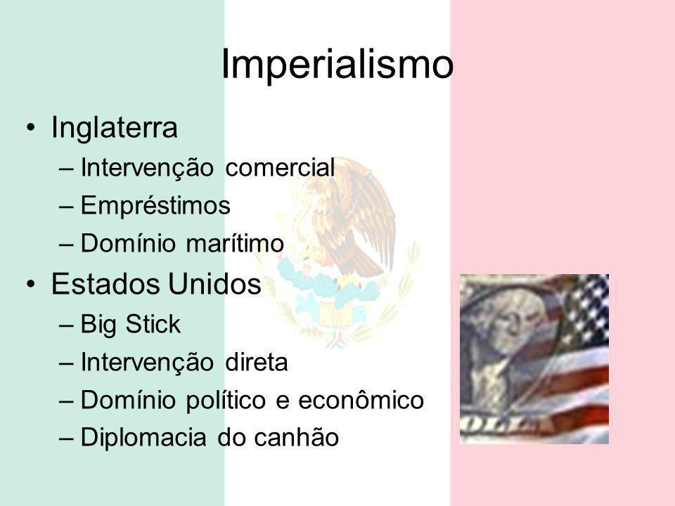 Imperialismo Inglaterra Estados Unidos Intervenção comercial
