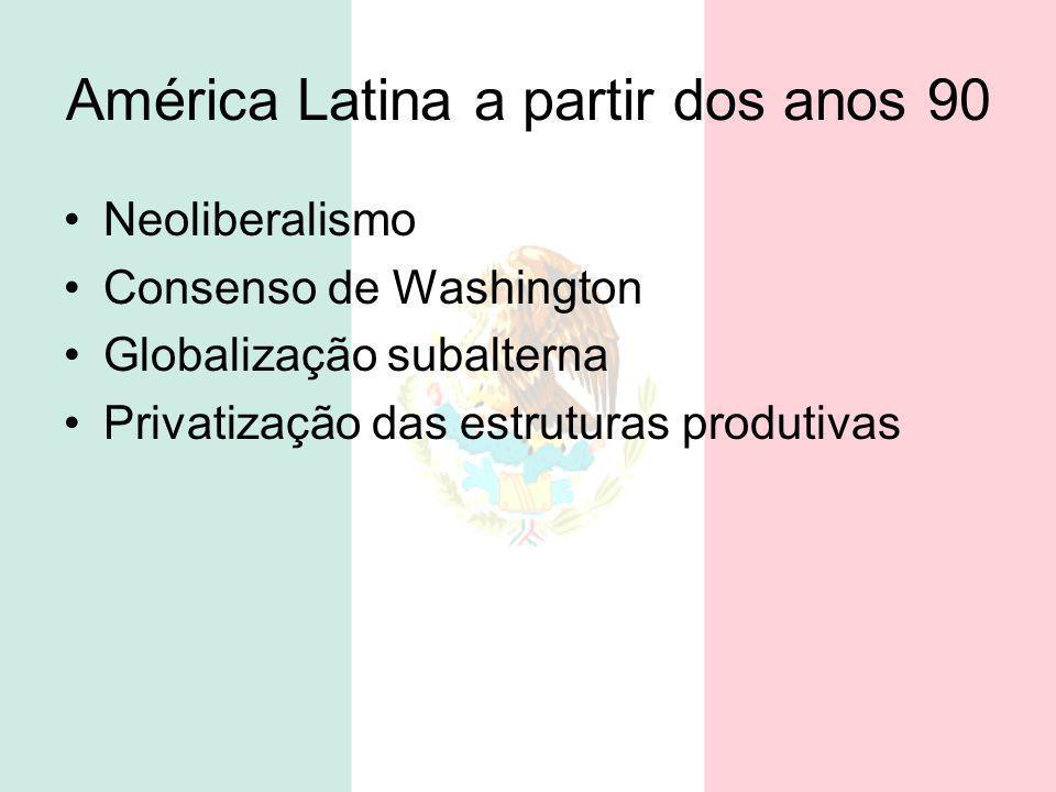 América Latina a partir dos anos 90