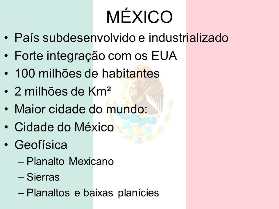 MÉXICO País subdesenvolvido e industrializado