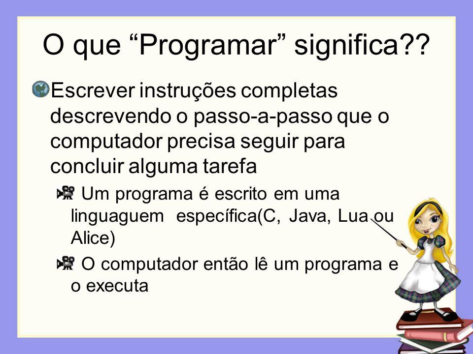 O que Programar significa