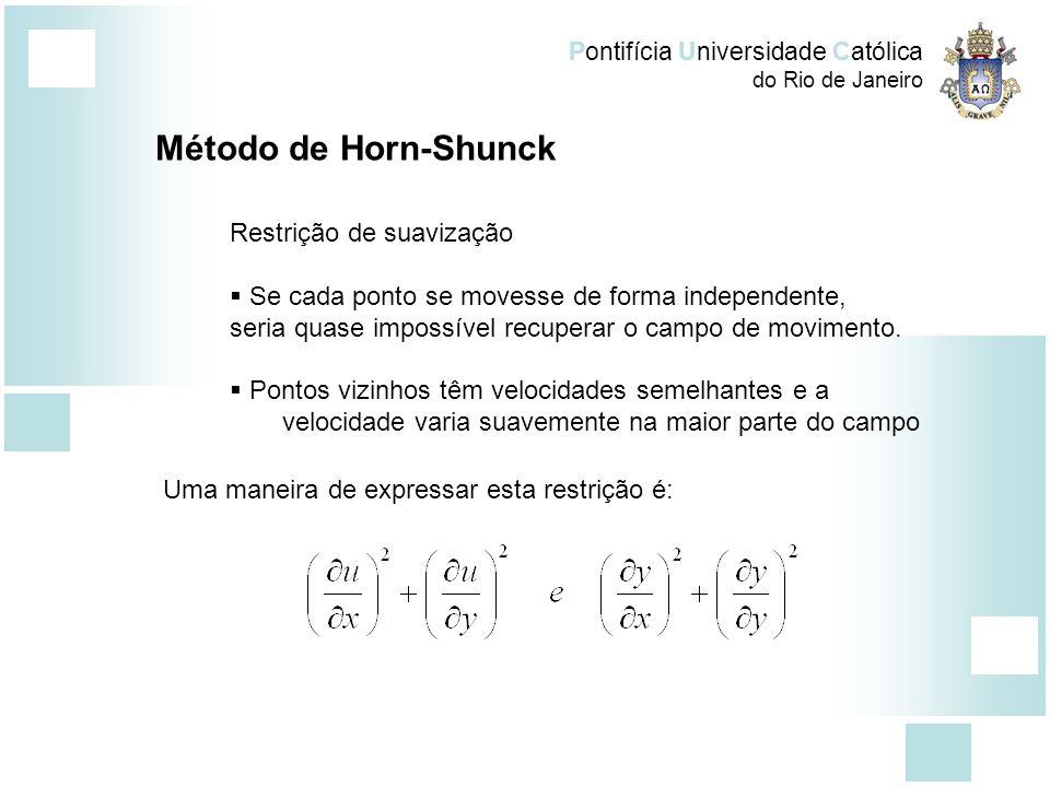 Método de Horn-Shunck Restrição de suavização