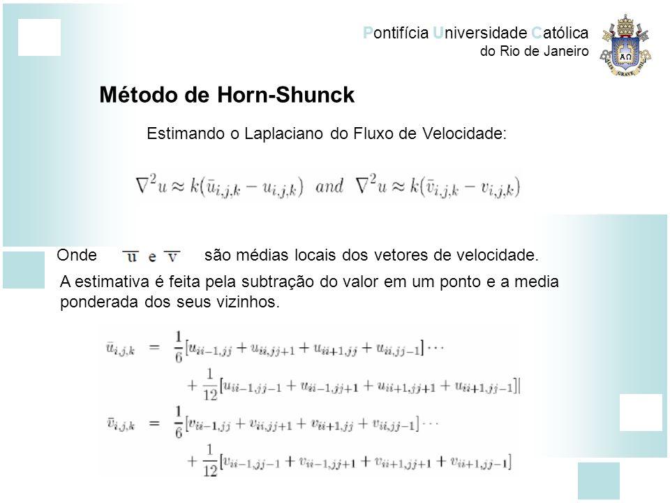 Método de Horn-Shunck Estimando o Laplaciano do Fluxo de Velocidade: