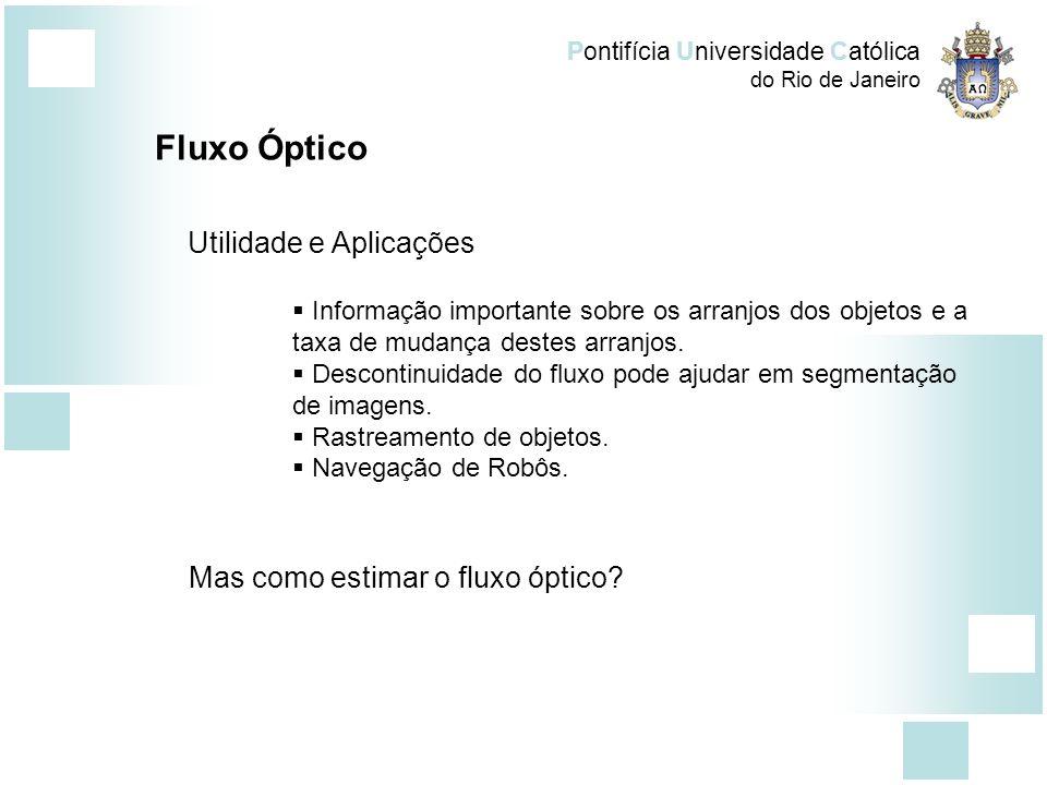 Fluxo Óptico Utilidade e Aplicações Mas como estimar o fluxo óptico