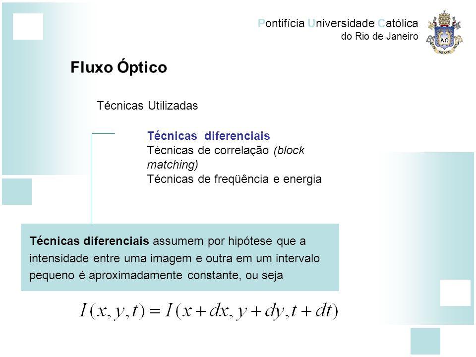 Fluxo Óptico Técnicas Utilizadas Técnicas diferenciais