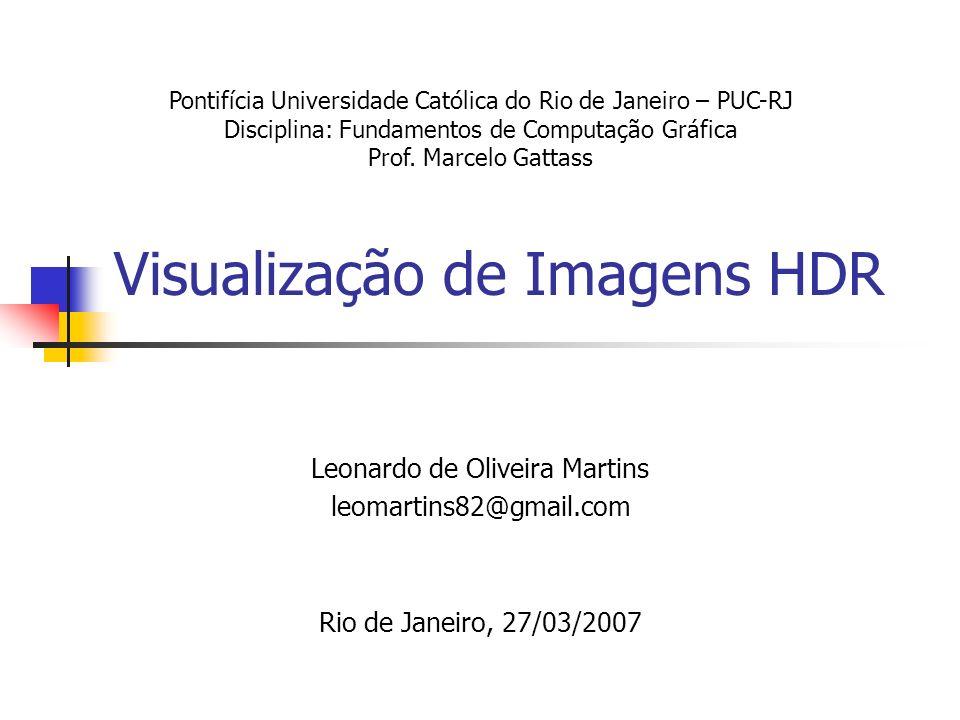Visualização de Imagens HDR